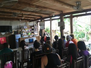 People in a room in Buoc Village, Vietnam