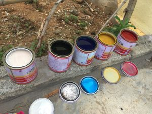 paint in Buoc Village, Vietnam, sjvietnam