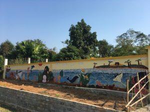 Mur peint, Buoc Village, Vietnam, sjvietnam
