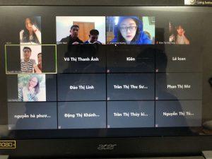 Online class at Vinh University, Vietnam