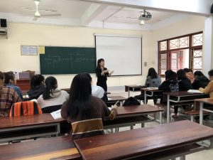 Class at Vinh University, Vietnam